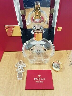 Rare Edition Empty Remy Martin Louis XIII Cognac Baccarat Decanter Case