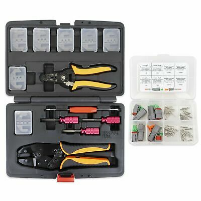 13pc Deutsch Crimper Kit -Includes 7 Dies, Stripper, Removal Tools, Connectors