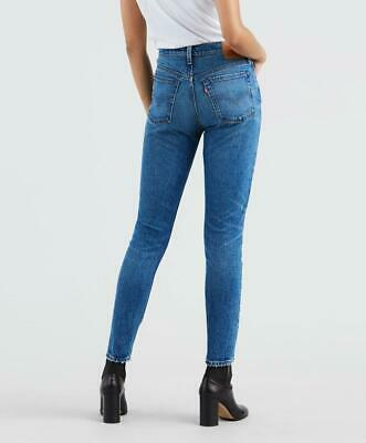 Levis 501 Skinny Jeans High Waist Slim Straight Classic Blue We the Free People