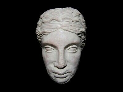 HELLENISTIC TERRACOTA HEAD OF A YOUNG PRINCE as GREEK GOD DIONYSIUS, REPLICA!!!