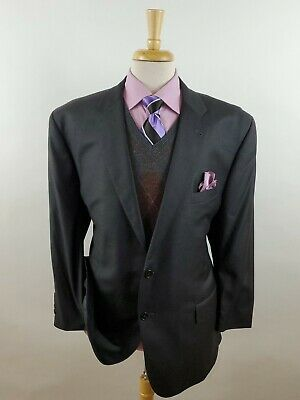 JOS A BANK Signature GOLD Tailored Fit 100% Wool Gray 2 Button Sport Coat Sz 48R