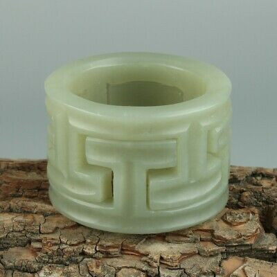 Chinese Exquisite Hand-carved Hollow Hetian jade statue
