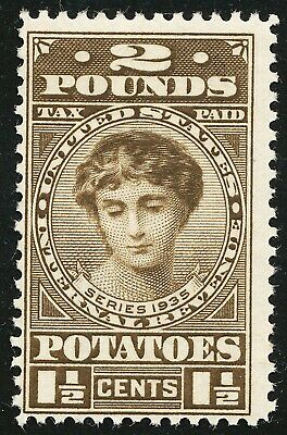 Dr Jim Stamps Us Scott Ri2 1-1/2C 2 Pounds Potatoes Unused Og Hinged No Reserve