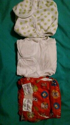 Small Cloth Diaper Lot Bumkins Bummis Dappi