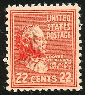 Dr Jim Stamps Us Scott 827 22C Cleveland Unused Og Hinged No Reserve
