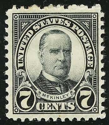 Dr Jim Stamps Us Scott 639 7C Mckinley Unused Og Hinged No Reserve Free Shipping
