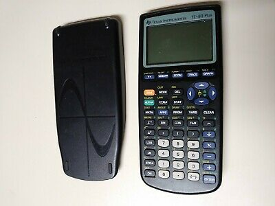TI-83 Plus Graphing Calculator Texas Instruments - Tested, with Cover