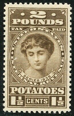 Dr Jim Stamps Us Scott Ri2 1-1/2C 2 Pounds Potatoes Unused Og Nh No Reserve