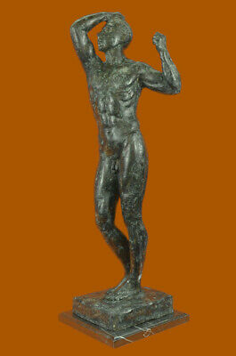 Handmade BRONZE SCULPTURE STATUE Abstract Signed Rodin Abstract Modern Nude Gift