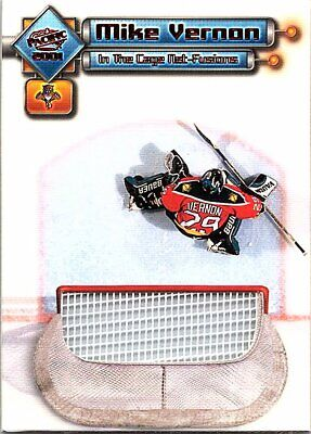 2000-01 Pacific In the Cage Net-Fusions #4 Mike Vernon