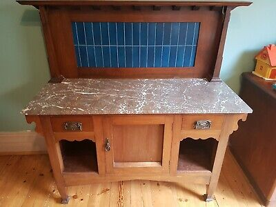 Antique marble topped washstand larger than most