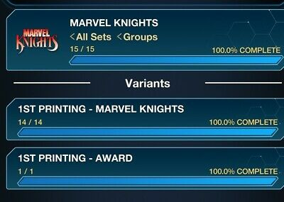 Topps Marvel Collect Digital Card Trader Marvel Knights 1st First Printing...