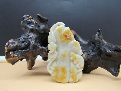 AAAAA Chinese Hand-carved aristocratic wearing Jadeite jade pendant lotus