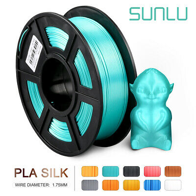 SUNLU 3D PLA Silk Green Printer Supplies 1.75mm 1kg New Consumables No Bubble