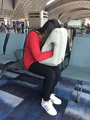 New Inflatable Air Travel Pillow Airplane Neck Support Head Cushion Nap Rest