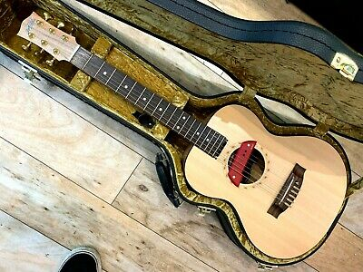 Maton Mini EM6 Solid Acoustic Electric Guitar + Hard Case w. EMG ACS + Ghotohs