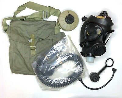 Israeli M15 Gas Mask, M + 40mm Filter Hose Drinking-Tube Canteen-Cap Carrier Bag
