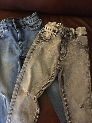 NEXT Boys Jeans Two Pairs One Blue And One Grey Age 4