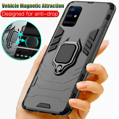 For Samsung Galaxy S20 Ultra /S20+ Plus Shockproof Armor Ring Stand Case Cover
