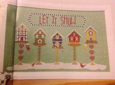 (X5) Historical Sampler Company Birdhouse Snow Christmas Cross Stitch Chart