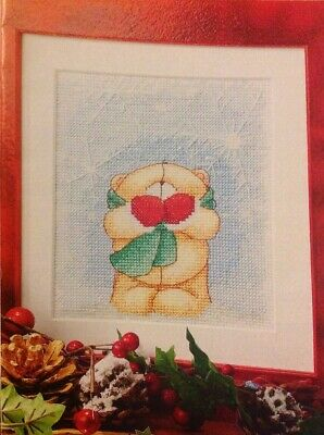 (X5) Forever Friends Teddy Bear Snowflakes Christmas Cross Stitch Chart