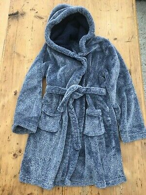 Boys Cosy Dressing Gown - Age 8 in blue