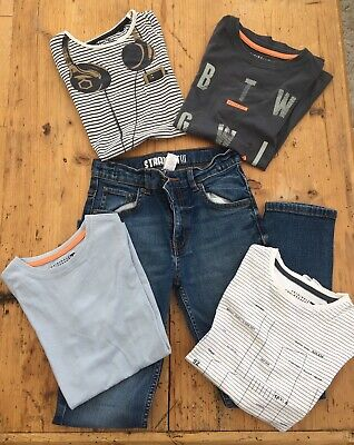 Boys Bundle - Pair of Jeans and Four Trendy T Shirts - Age 8