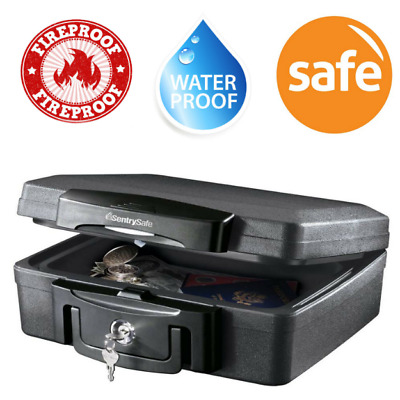 Key Lockable Storage Box For Valuables Large Fireproof Durable Security Chest