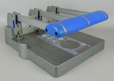 CARL XHC-150 Sheet Industrial 3-Hole Paper Punch w/ Waste Containers