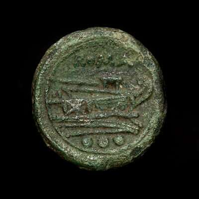 *Lucernae* Roman Republic Anonymous Æ Quadrans Prow three pellets Rome 211 B.C.