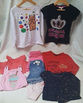 Girls Clothes Bundle, 5-6years. NEXT, H&M, BLUEZOO, George. 9 Items.
