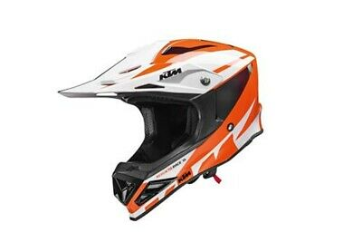 KTM Dynamic FX Orange White Motorcycle Full Face MX Crash Helmet New