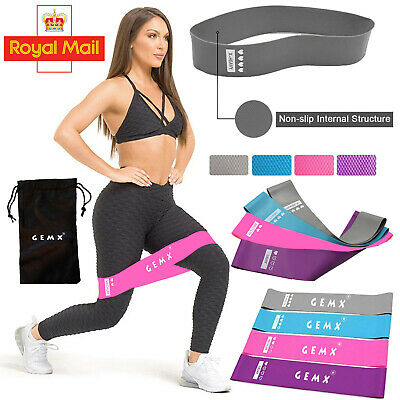 Non Slip Latex Loop Band Exercise Hip Glute Heavy Duty Resistance Booty Bands UK