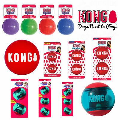 KONG Dog & Puppy Signature and Squeezz Action Dog Ball Toys Durable Bouncy Fetch