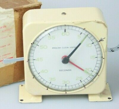 Old DARKROOM CLOCK NS2 Seconds by ENGLISH CLOCK SYSTEMS SMITHS INDUSTRIES Boxed
