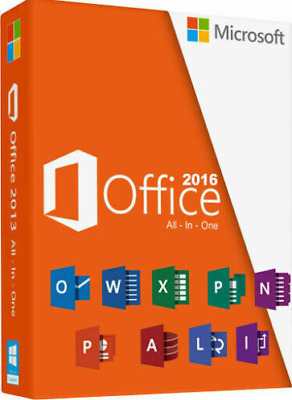 Microsoft Office 2016 Professional Plus | Product License Key Lifetime 32/64 Bit