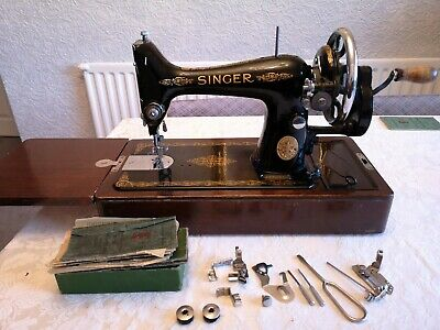 Singer 99k Hand Crank Sewing Machine Vintage Antique