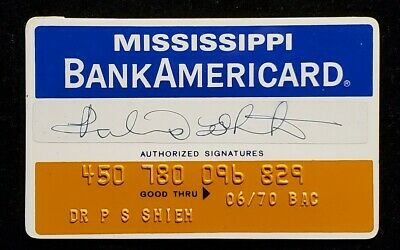 BankAmericard Mississippi Peoples Bank Credit Card exp1970 ♡Free Shipping♡ cc109