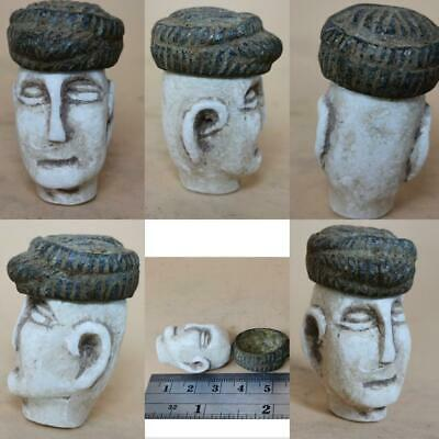 Bactrian ancient King HEad face With Cap   # 142