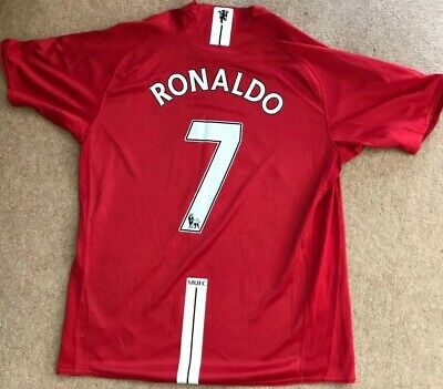 Manchester United Man Utd 2007 - 2009 Home Shirt/ Ronaldo 7/ Large (L)/ MINT