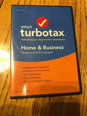 TurboTax Home & Business 2018 Used once 4 Returns Left Fed & State!