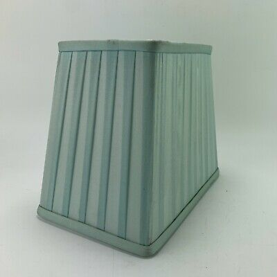 """Vintage Pale Duck Egg Blue Pleated Silk Lamp Shade 8x7x5"""""""