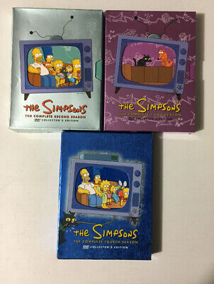 The Simpsons DVD Collectors Edition  Lot  Complete Season  2 3 4 Box Set