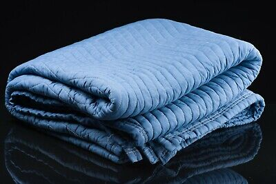 SUPER HEAVY DUTY Blue Moving Blankets 80 lb Moving Blankets