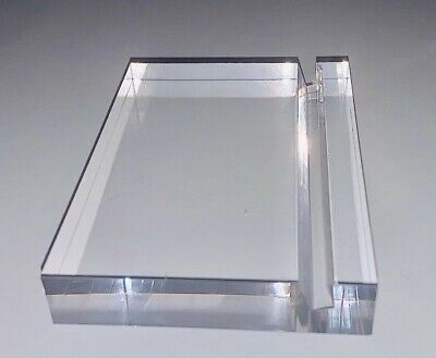 Acrylic Paperweight and Business Card Holder