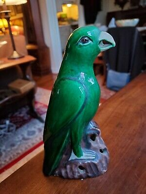 Misson Early 20th C. Pottery Arts & Crafts Parrot Animal RARE