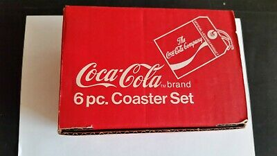 Coca Cola Glass coasters set of 6 New