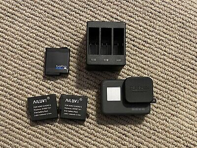GoPro Hero6 12 MP Action Camera - Black - 3 Batteries and charger.