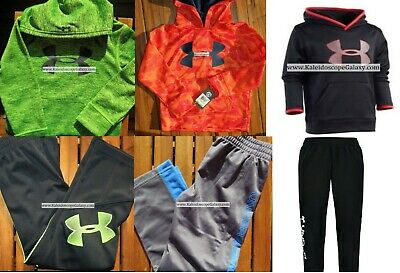 UNDER ARMOUR BOYS Size 4 ~ TRACK PANTS ~ WINTER ~ HOODIES ~ NEW $204