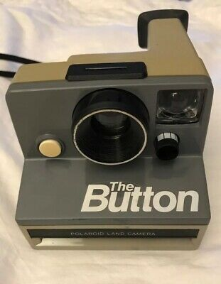 Polaroid The Button Land Instant Film Camera Retro Vintage Gray 1980s